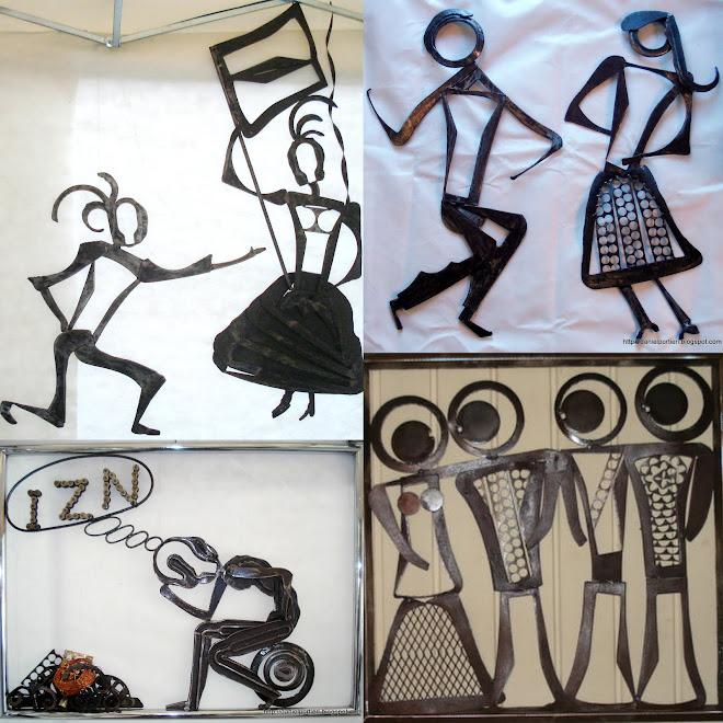 Esculturas Verticais:figuras humanas