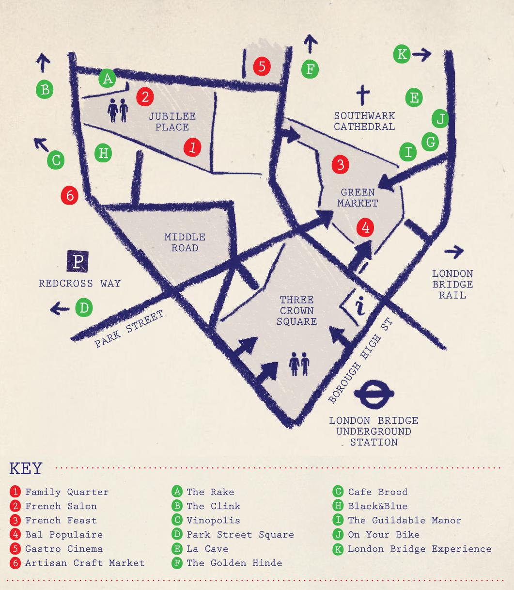 London Pop ups: The Bankside & Borough Market Bastille Day