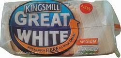 Kingsmill great white high fibre bread