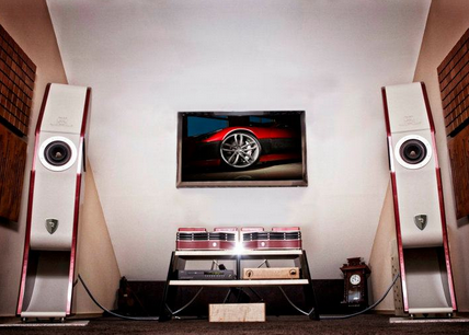 photos of vilmer studios hi-end audio system based on rimac concept one car