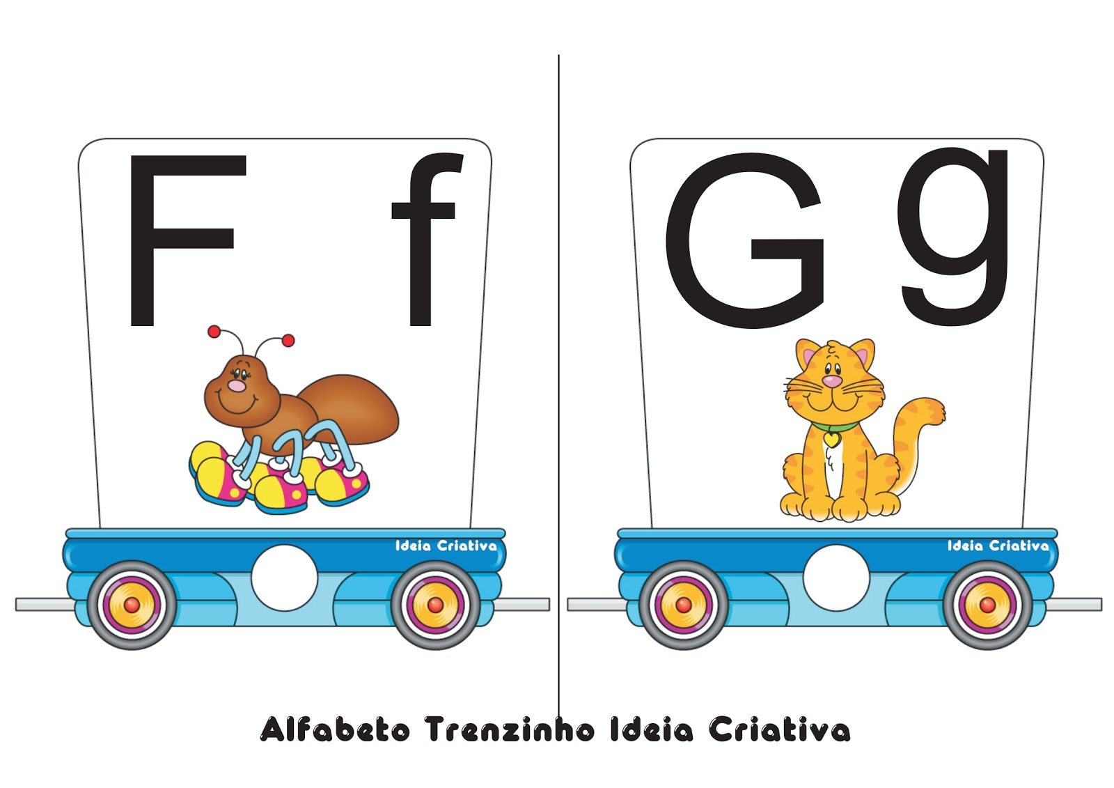 Alfabeto Trenzinho Ideia Criativa
