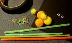 Cara Membuat Kerajinan Tangan Dari Sedotan , Boneka Sedotan :
