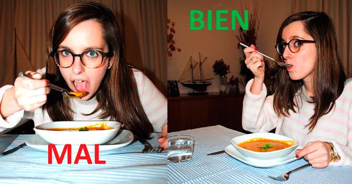 Tips etiqueta en mesa beverly for Mesa comer