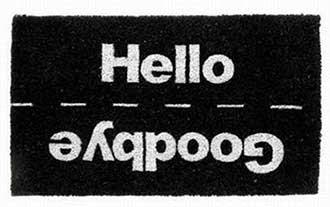 Tapetes personalizados de boas vindas diferentes