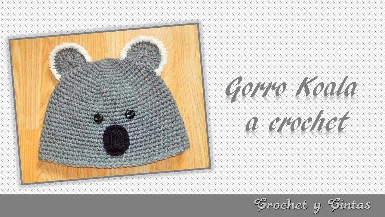 Gorro Koala tejido a crochet para niños ~ Crochet y Cintas