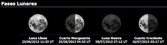 La Luna de estas horas...
