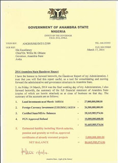 anambra state handover note.