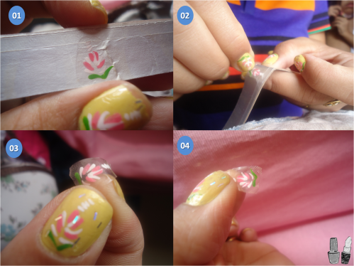 ... passo como fazer decoração de unhas usando caixinhas de leite