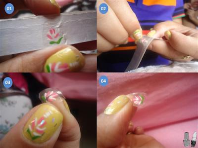 Passo a passo como fazer decoração de unhas usando caixinhas de leite