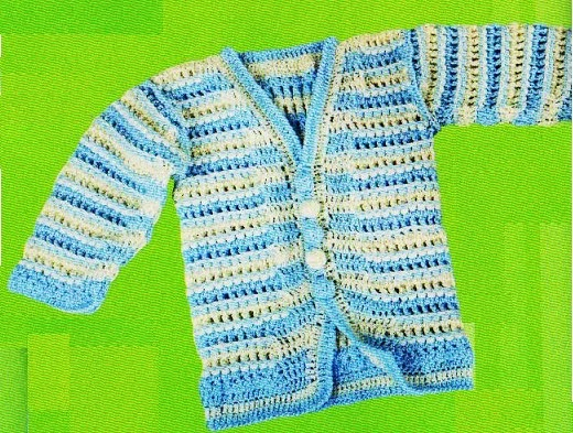 Moda infantil ropa para ni os ropa para ni as ropita bebes chaqueta de bebe tejido crochet - Tejer chaqueta bebe 6 meses ...