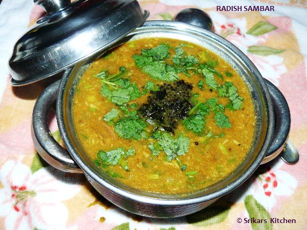 RADISH SAMBAR- MULLANGI SAMBAR
