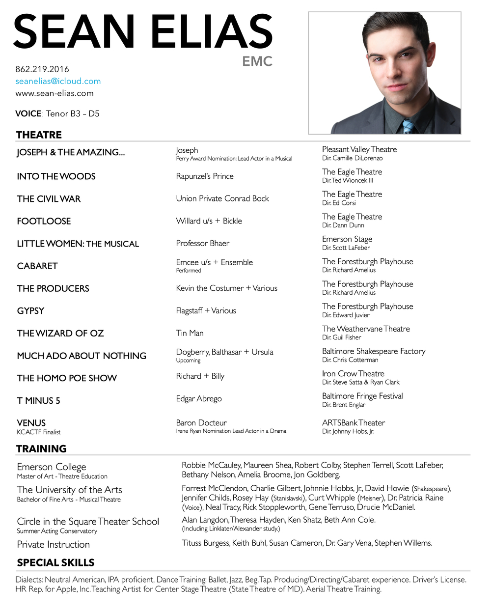 latest resume formats for experienced