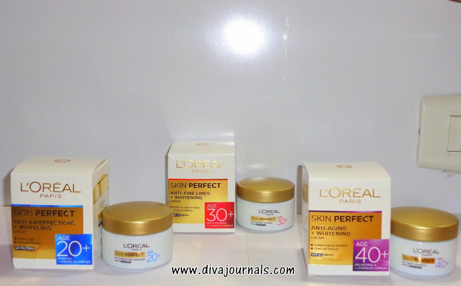 Sneak peek of Loreal Paris Skin Perfect Skincare Range