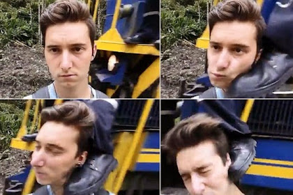 Hendak Selfie, Pria Ini Kena Tendangan Masinis