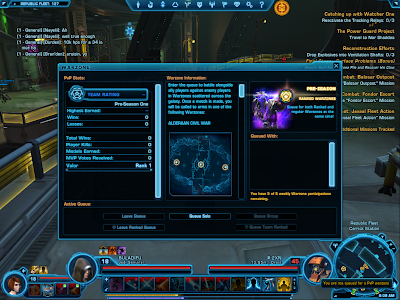 SWTOR - Warzone Queue Window
