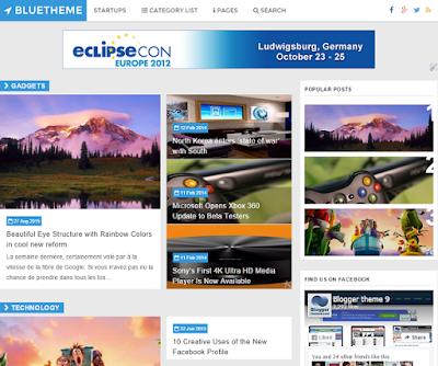 BlueTheme Responsive Blogger Template