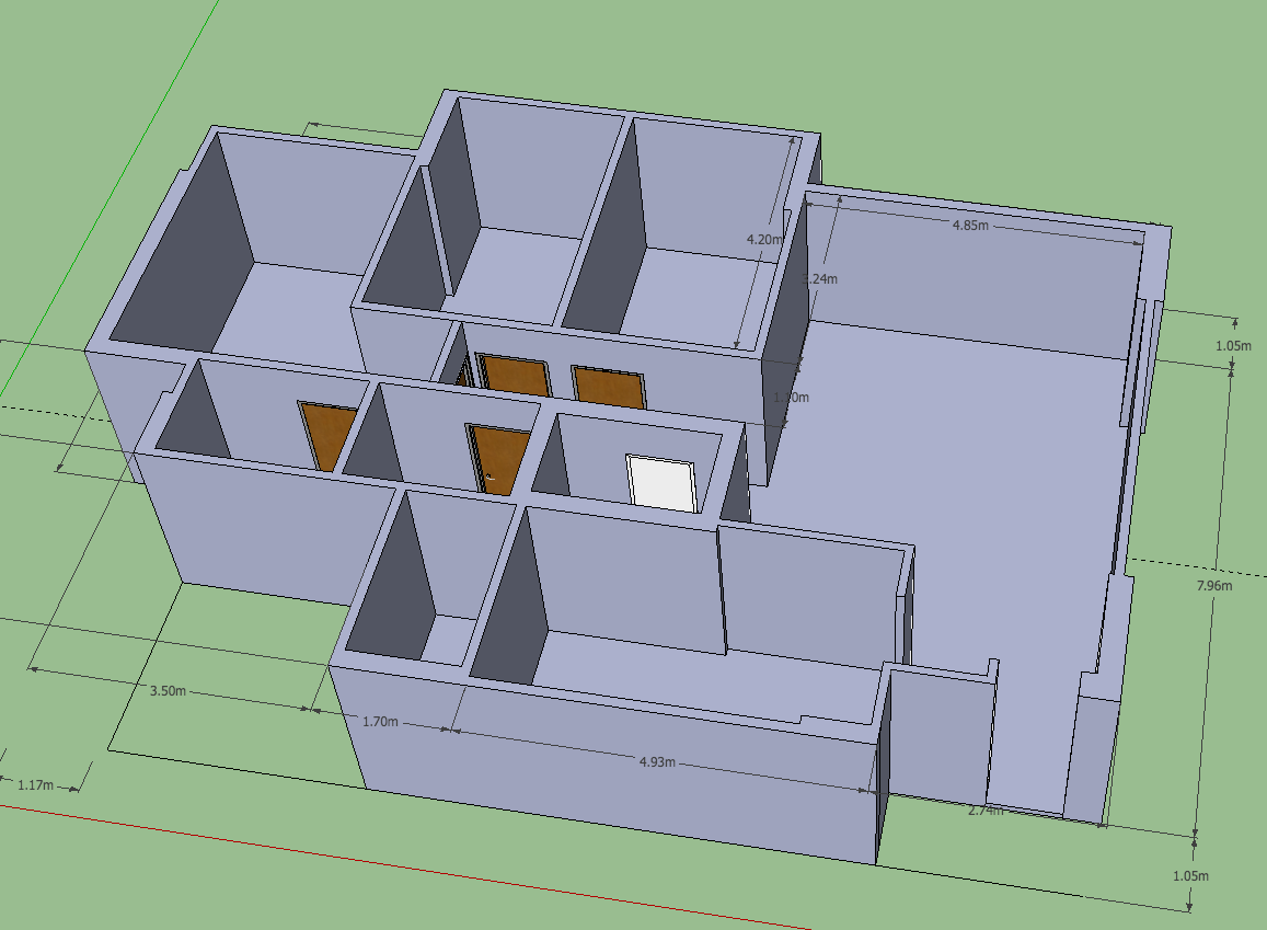 Fresh Then I added doors with models from Google Warehouse which has a million models