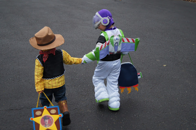 Buzz and Woody are friends