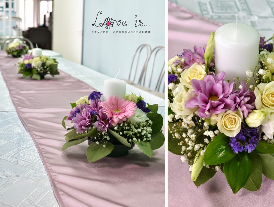Букет из цветов на стол своими руками 35
