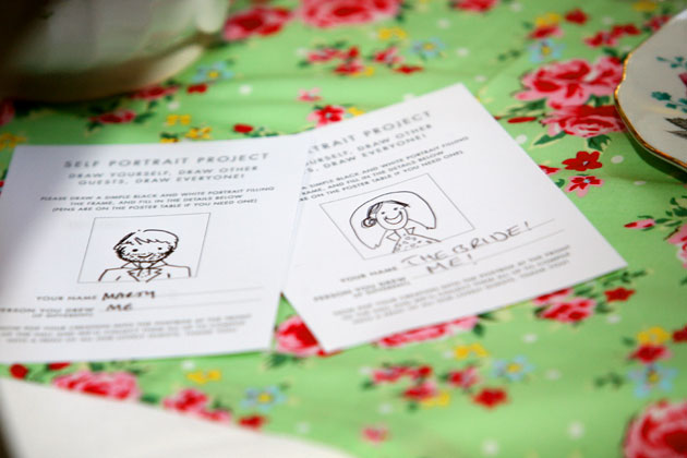 Wedding favour idea - Self Portrait Project, designed by Theme-Works Weddings