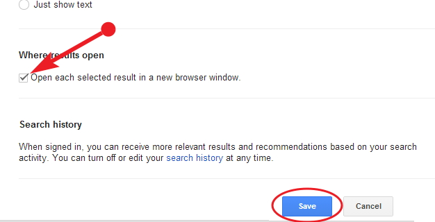 how to change new tab to google