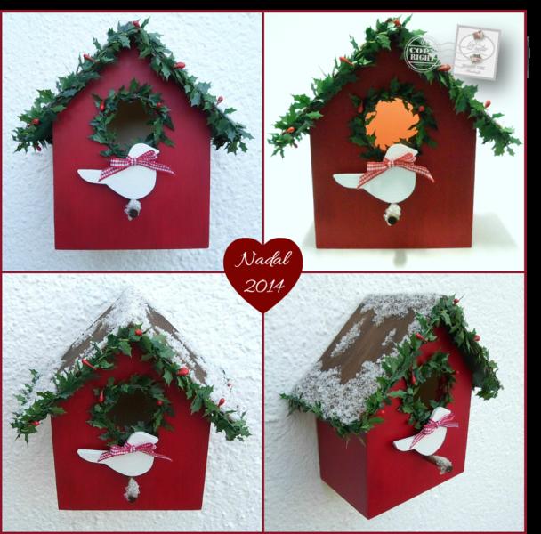 Les cosetes de dudu una casita de p jaros muy navide a - Casitas de navidad ...