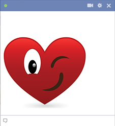 Wink heart Facebook sticker