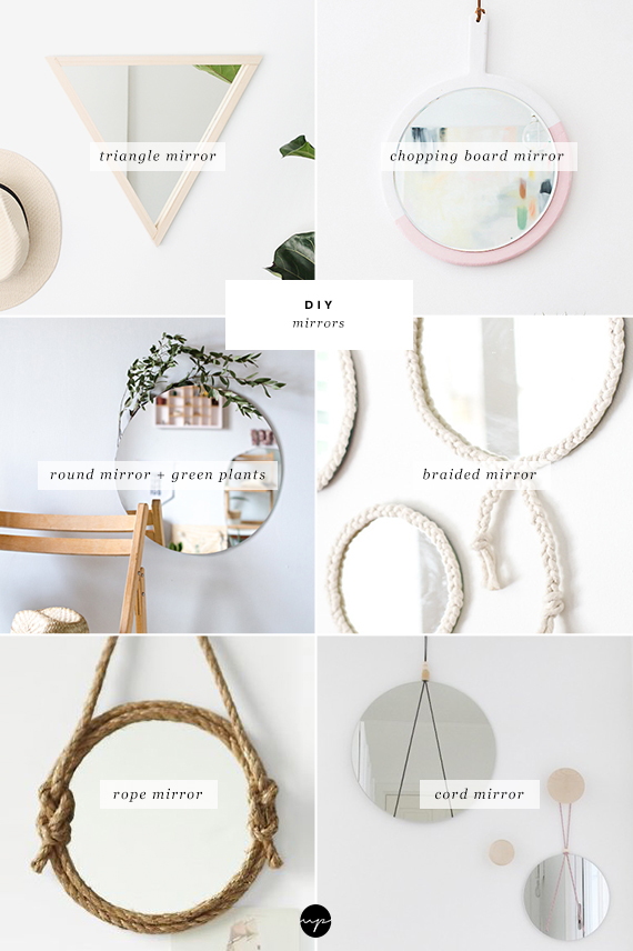DIY: Gorgeous mirrors for your wall
