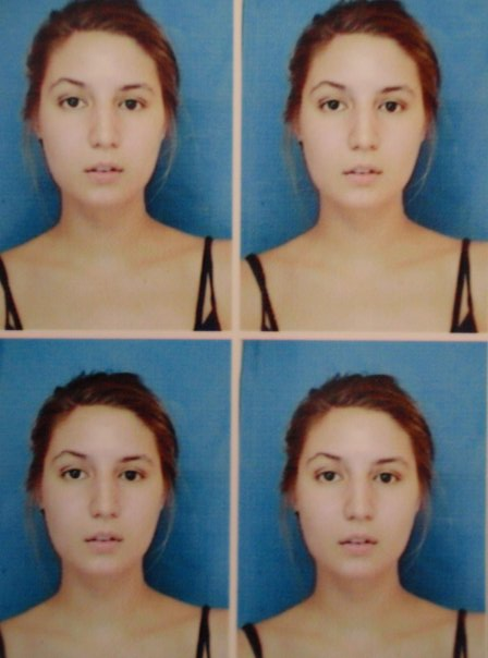 grid of photos for a visa extension