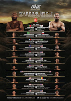 ONE FC 12 Warrior Spirit new fight card