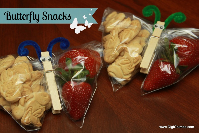 Digicrumbs butterfly snack for kids a fun preschool snack - Fingerfood kindergarten ...