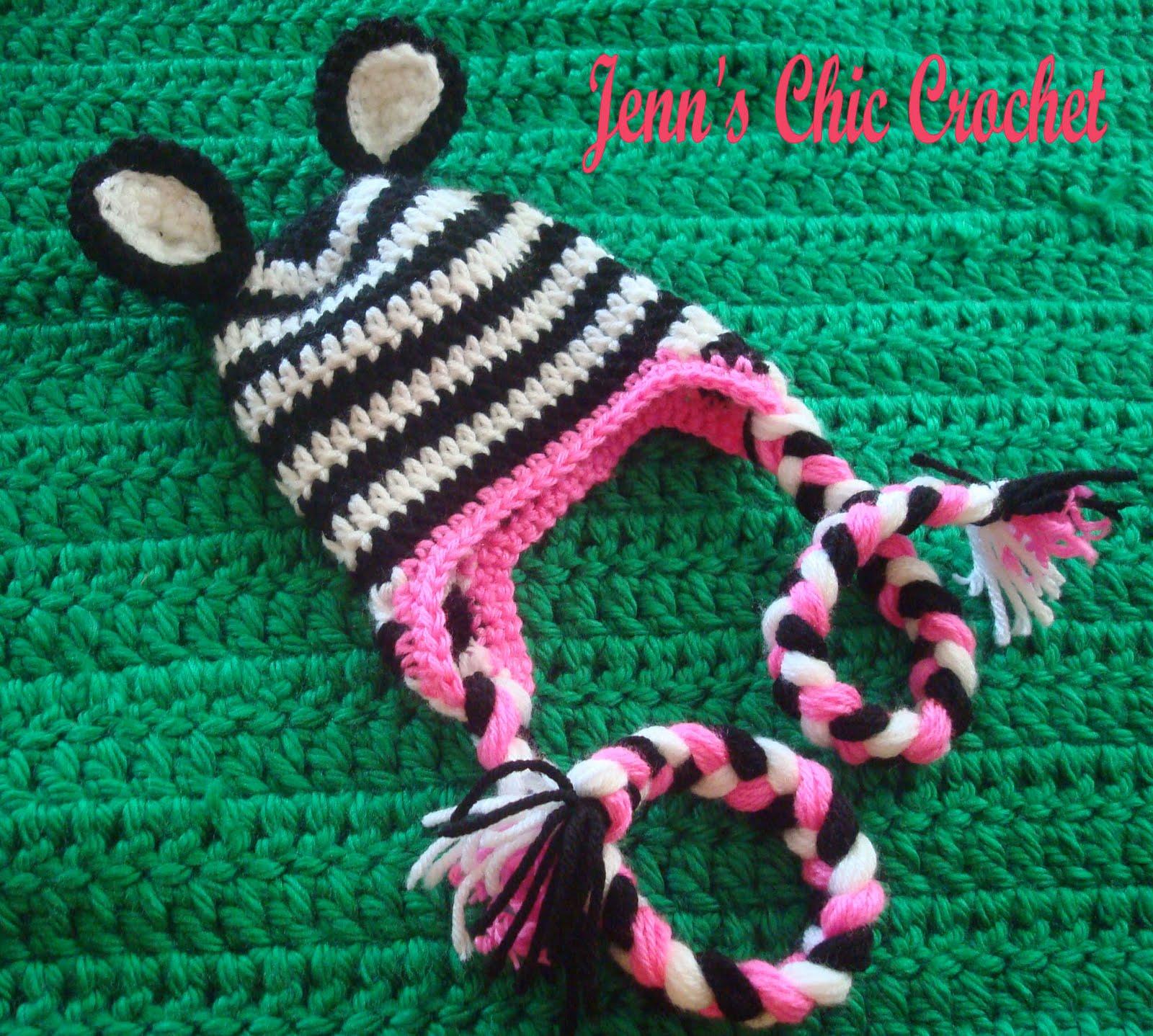 Jenns Chic Crochet: Zebra Hat