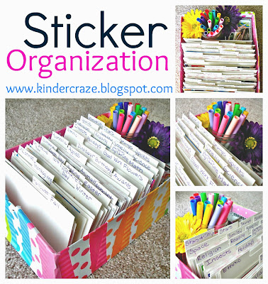 http://www.kindercrazeblog.com/2012/06/stickers-organized.html
