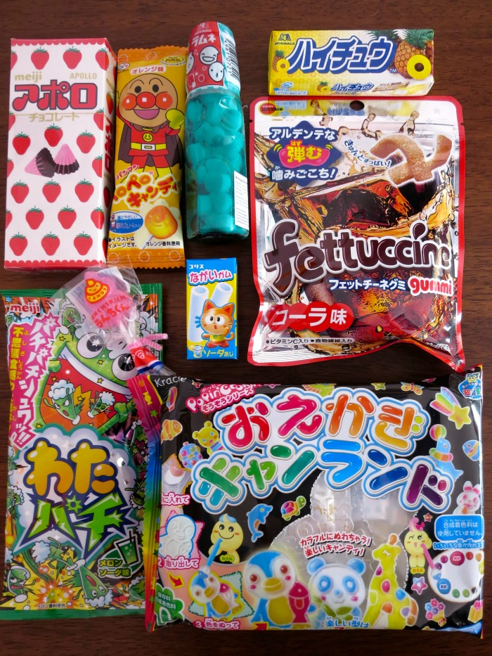 October Japan Candy Box content