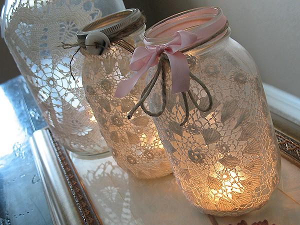 la bulle d 39 anna napperons d 39 antan deviennent une d co chic charme. Black Bedroom Furniture Sets. Home Design Ideas