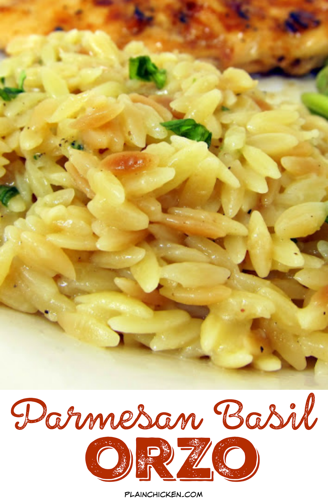 Parmesan Basil Orzo - toss the box and make this delicious side dish! orzo, chicken broth and parmesan cheese - ready in 20 minutes.