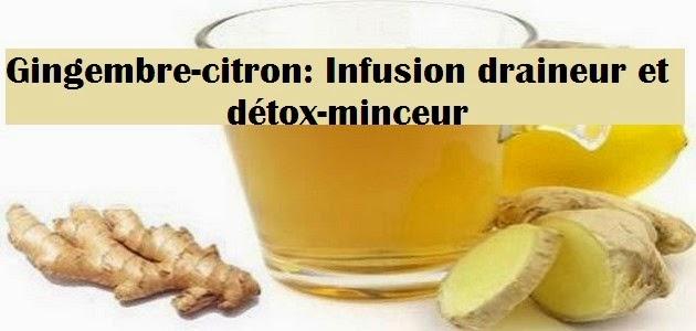 Citron-gingembre: Infusion draineur et détox-minceur