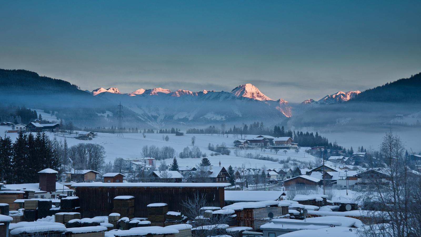 Fotografia krajobrazowa. Widok z okna, Altenmarkt, Austria. fot. Łukasz Cyrus