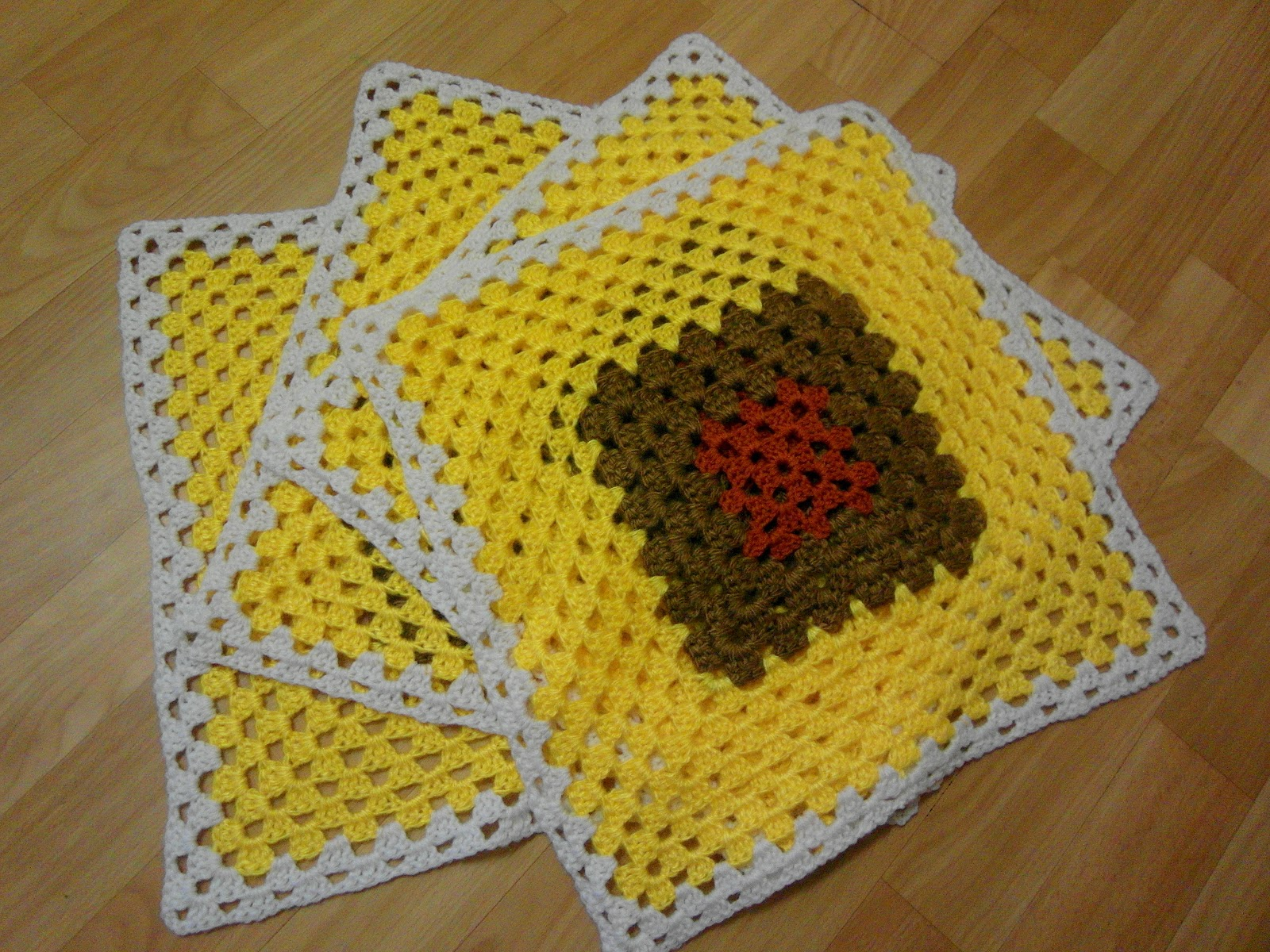 Вязание коврик на стул крючком 47