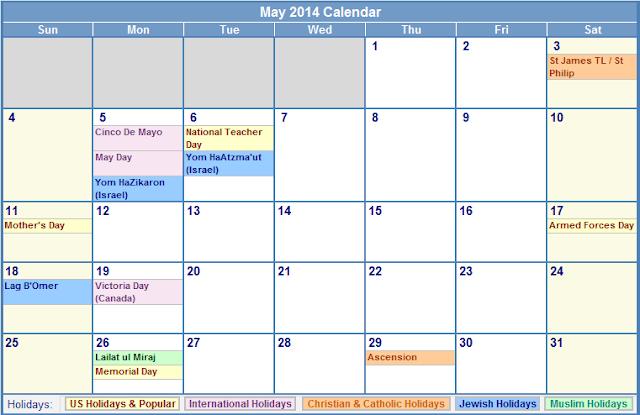 May Calendar Xls : May calendar printable excel