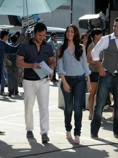 Kareena Kapoor and Saif on their Head & Shoulders on-location ad stills