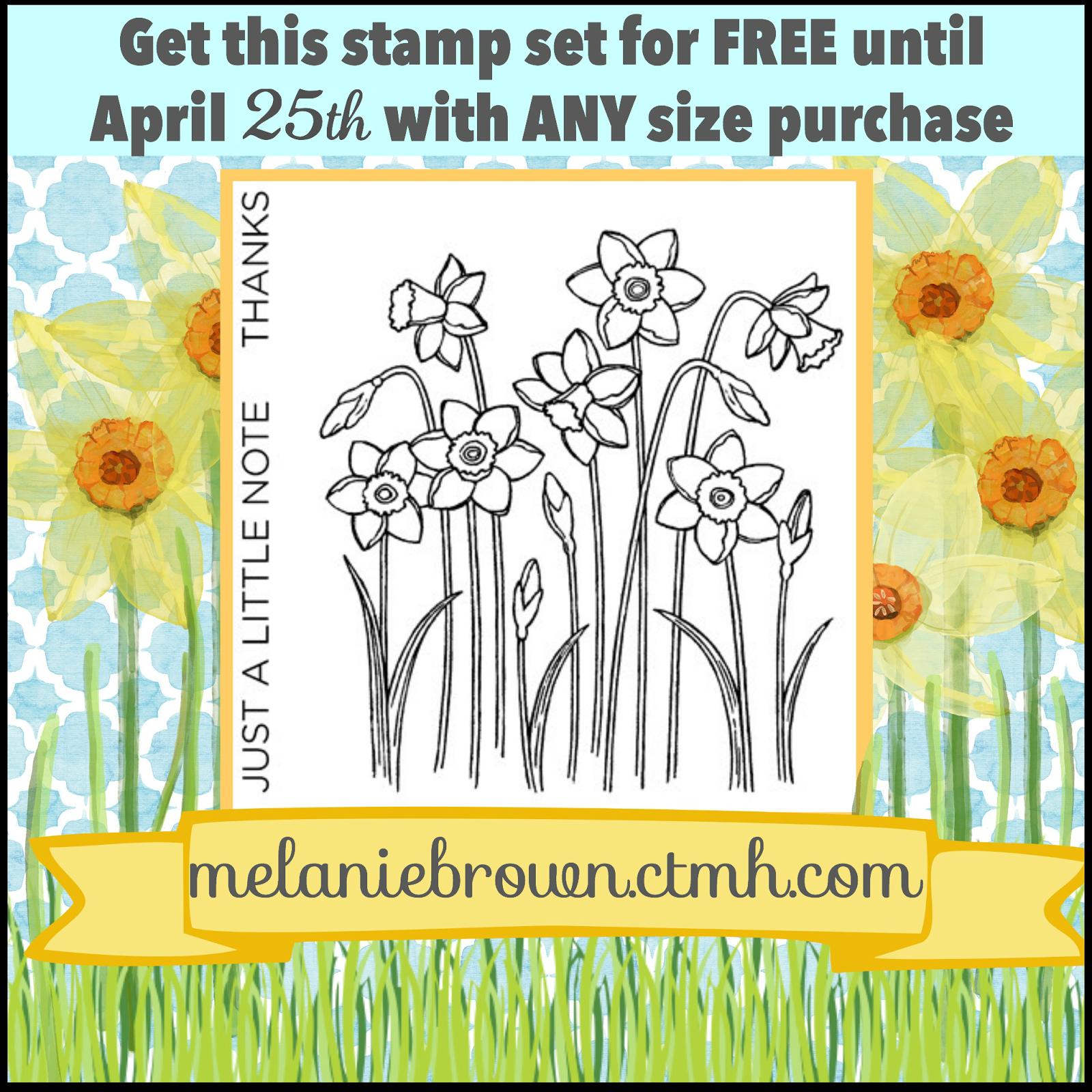 Free daffodil stamp set.