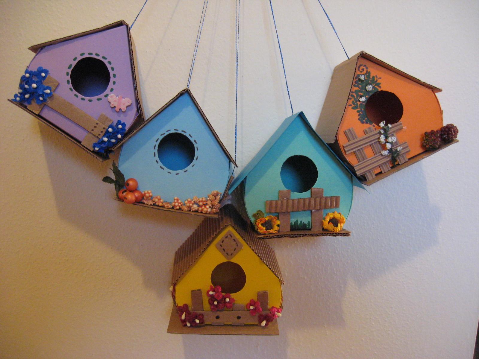 Carta e cuci casette per uccellini solo decorative for Piccoli piani di casa con costi da costruire