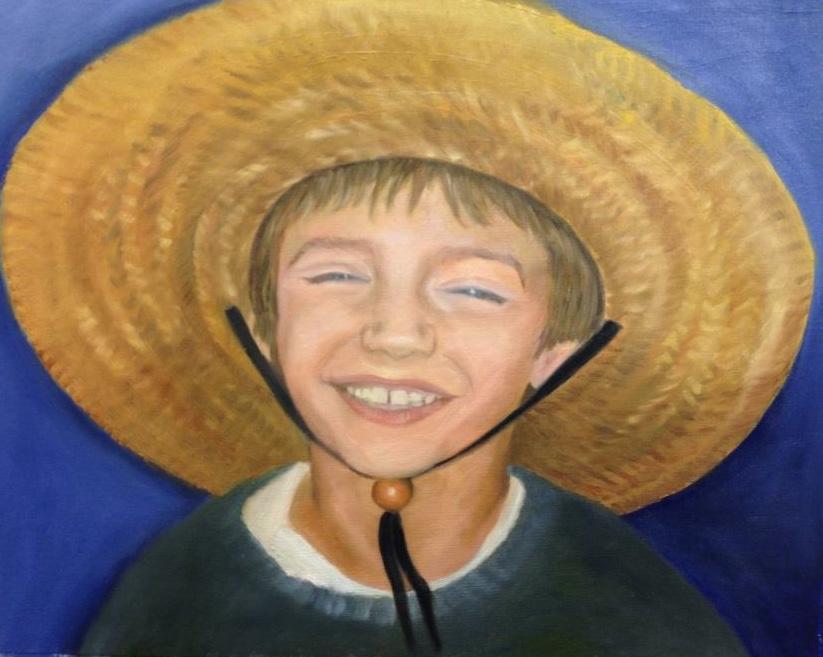 2014 Jake at the beach Michelangelo Portrait Paintings