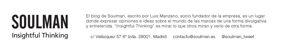 SOULMAN Insightful Thinking:   @soulman_tweet    @luis_manzano