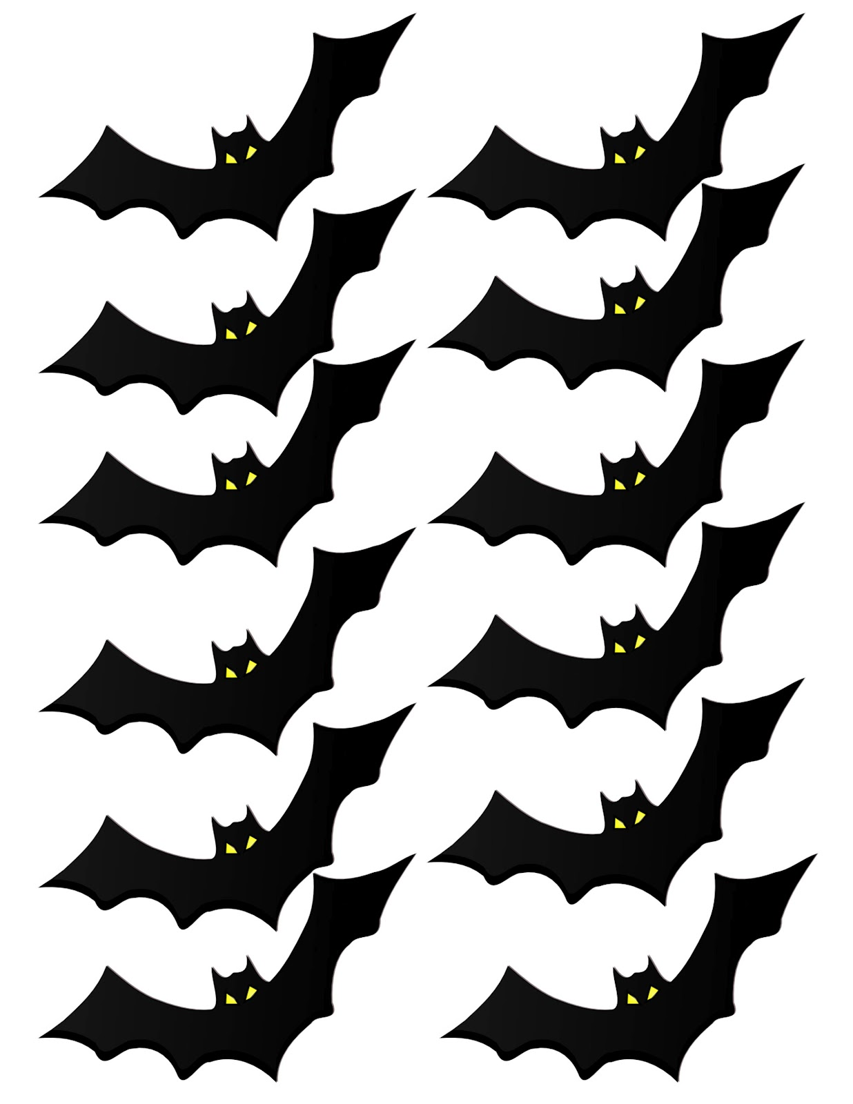 Dramatic image in bat printable