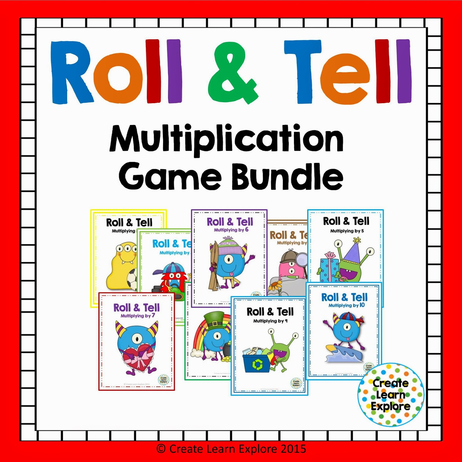 http://www.teacherspayteachers.com/Product/Multiplication-Roll-and-Tell-Bundle-1638979