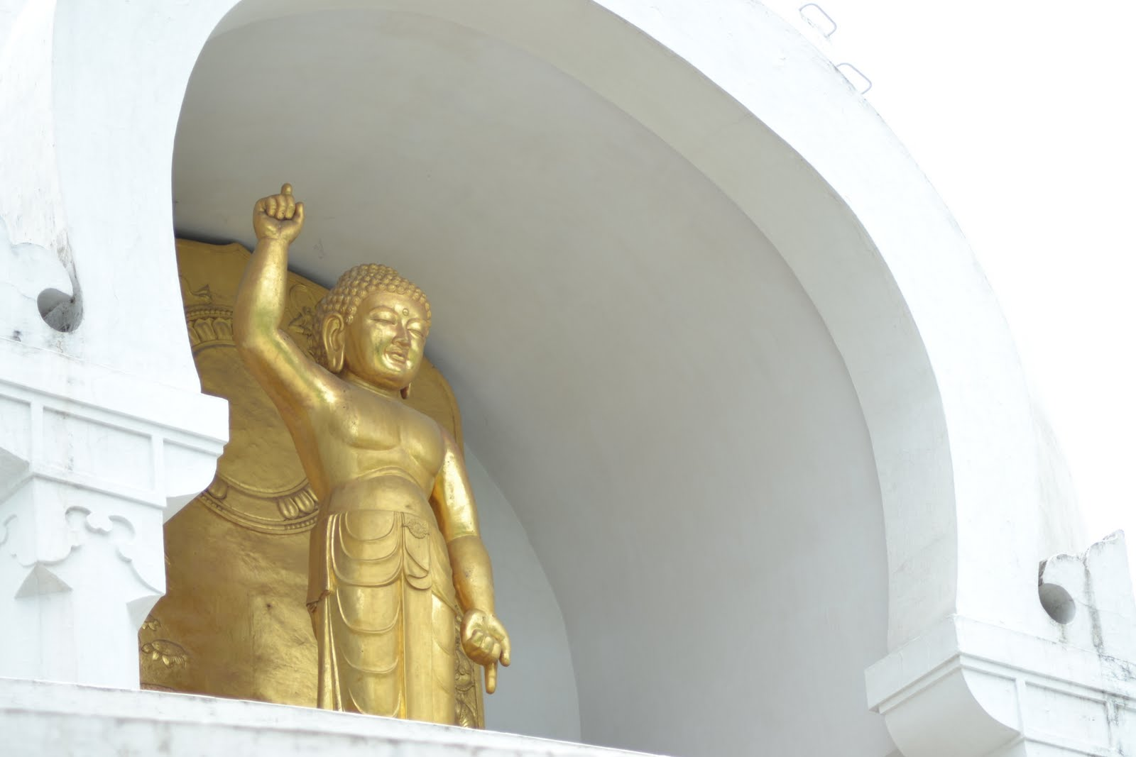Buddha at World Peace Pagoda , Vaishali
