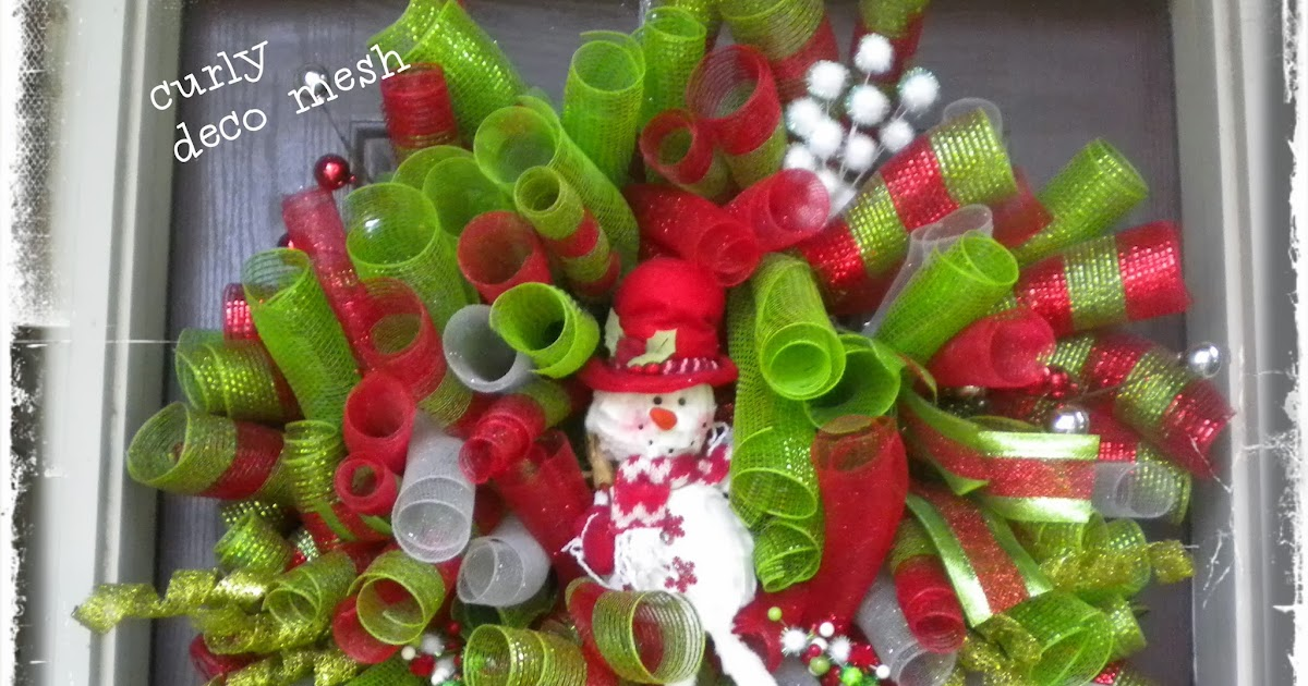 Daisies Amp Stars Diy Christmas Deco Mesh Curly Wreath