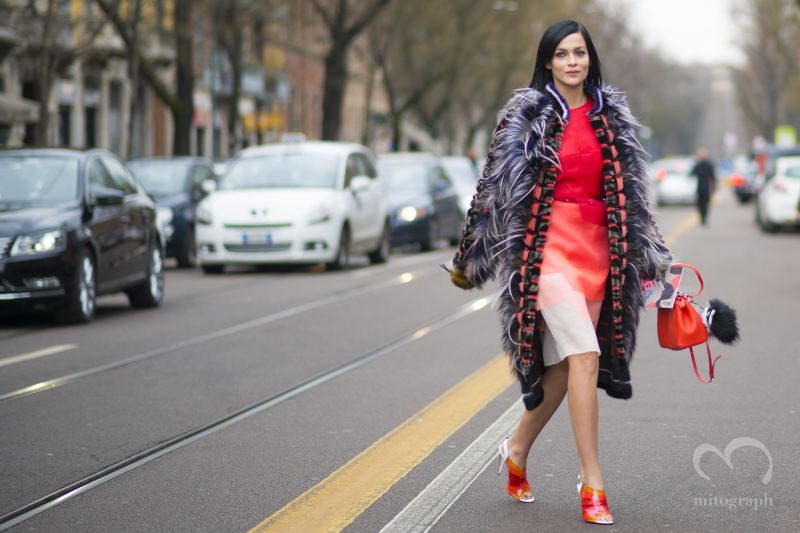 DJ Leigh Lezark wears Fendi during Milan Fashion Week 2014 Fall Winter MFW